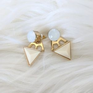 80's Geometric Stud Earrings with Removable Stud